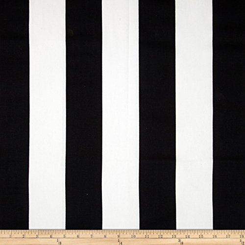 Premier Prints Vertical Stripe Black/White Fabric By The Yard - Black White Upholstery Fabric