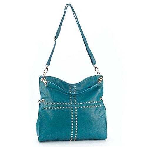 Collection - Bolso de tela para mujer 38x40x7 cm (BxHxT) azul - Turquesa