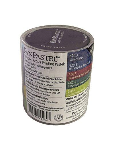 Panpastel 9-Milliliter Ultra Soft Artist Pastel Set, Shades, 5-Pack by Panpastel