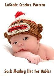 Sock Monkey Beanie Hat Crochet Pattern for Baby or Toddler