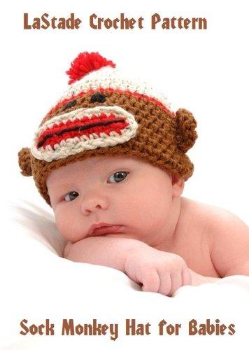 Crochet Sock Monkey Pattern - Sock Monkey Beanie Hat Crochet Pattern for Baby or Toddler