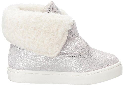 Polo Bootie Sneaker Suede Lauren Ralph Metallic Kids Siena Girls' Silver PrpP1Fwq