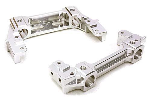 (Integy RC Model Hop-ups OBM-1308SILVER CNC Alloy Front & Rear Bumper Mount 44mm for Axial 1/10 SCX10 II (#90046-47) )