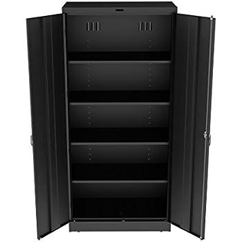 Amazon.com: HON Brigade Series Five-Shelf Storage Cabinet - High ...