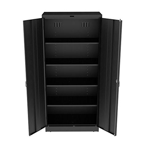 Tennsco 7824 Heavy Gauge Steel Deluxe Welded Storage Cabinet, 5 Shelves, 200 lbs Capacity per Shelf, 36