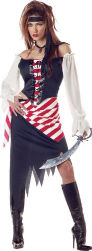 Ruby the Pirate Beauty Costume - Large - Dress Size (Fancy Dress Costume Ideas Cheap)