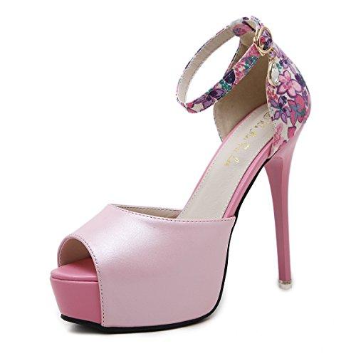 Sandals Rouge 35 Chaussures Avec Taiwan Impermable Femmes Pour Minces Fish Mouth Talon Femme C4nP5Pq