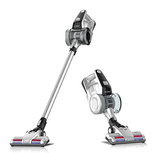 Aiper Cordless Vacuum Cleaner, 2 in 1 Stick Vacuum with Detachable Battery, up to 40 Minutes' Runtime and LED Brush