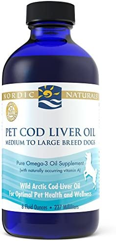 Nordic Naturals Pet CLO Supplement – Cod Liver Oil Omega 3s, DHA, EPA, Promotes Skin, Coat, Joint and Heart Health and Vitamin A for Vision, Fetal Development and Wellness