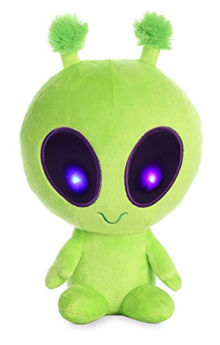 Aurora Twitch Light Up Alien Plush, Green