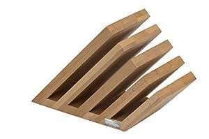 Artelegno 07 Venezia Magnetic Knife Block, Solid Beech Wood Natural Lacquer Finish
