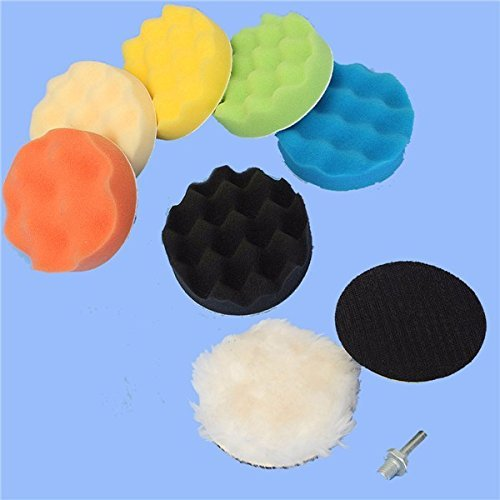 New 8Pcs 5 Inch Woolen Polishing/Buffing Pad Kit For Car Polisher maguires buffer pads ar15 pad meguires dutch glow furniture polish polisher amish wood handmade mylands friction