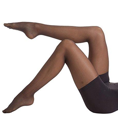 Donna Karan Clothes - Donna Karan Signature Satin Sheer Toner Hosiery (DOB109) Tall/Off Black