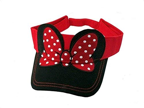 - Disney Youth Kids Hat Visor Minnie Bow Red Black (OSFA)