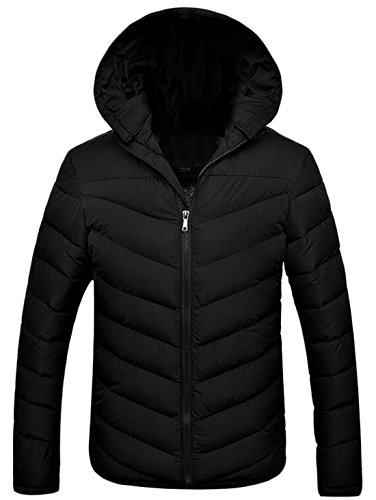 Hood Solid Down Slim Fit Coat Men's S Detachable US Jacket EKU Black EqWBR6AE