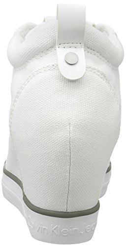 Calvin Ritzy 000 Blanc Klein Baskets Wht Femme Jeans Blanc Canvas 6q6Ew7r