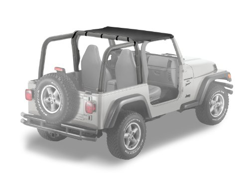 Bestop 52532-35 Header-style Safari Bikini Black Diamond Top for 2003-2006 Wrangler (except Unlimited) (Safari Bikini Header Bestop Top)