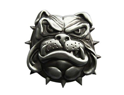 Gürtelschnalle Hund Bulldogge Bulldog 3D Optik für Wechselgürtel Gürtel Schnalle Buckle Modell 74 - Schnalle123
