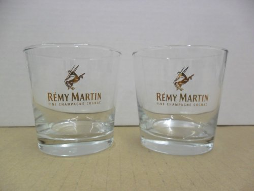 (Set of 2 Remy Martin VSOP Fine Champagne Cognac Lowball Rocks Glasses )