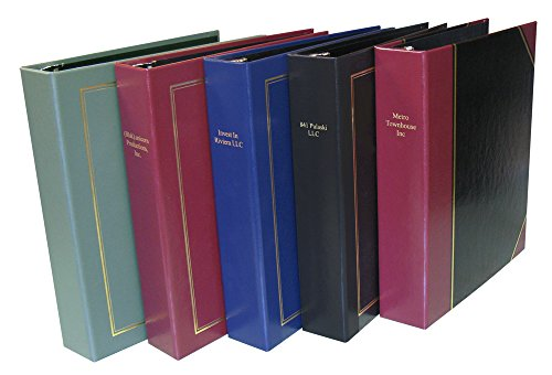 Custom Personalized 3-Ring Binder - Minute Book, Portfolio, Organizer, Planner - 3 Sizes and multiple colors available (1 1/4