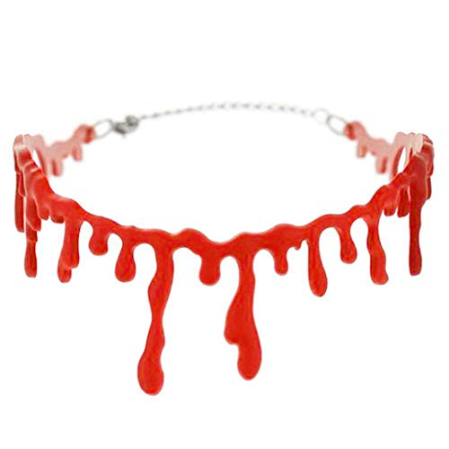Adult Latex Scary Mask Full Head Face Breathable Halloween Mask Horrible Mask Fancy Dress Horror Mask Blood Necklace -