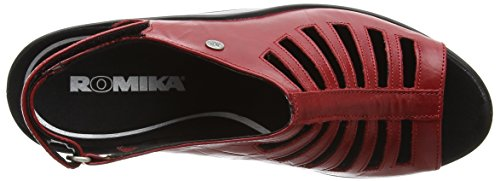 Sandals Romika Womens Red 287 Mokassetta Leather FwIUq8w