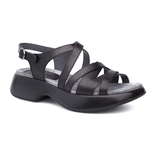 - Dansko Women's Lolita Sandal Black Full Grain 40 M EU (9.5-10 US)
