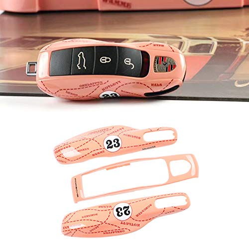 3PCS Remote Pink Pig Key Covers for Porsche, Jaronx Glossy Pink Pig Key Fob Shell Cover Painted Keyless Entry Skin Protectors (Fits:Porsche Boxster Turbo Cayenne Panamera Macan Cayman 911)