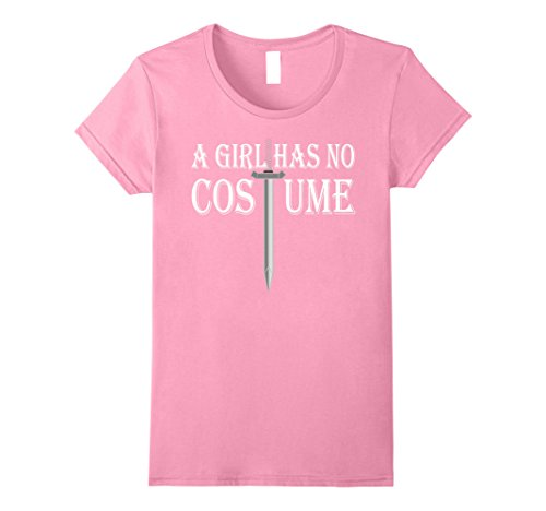 Pink Wig Halloween Costumes Idea (Womens A Girl Has No Costume T-Shirt Funny Halloween Gift Shirt Large Pink)