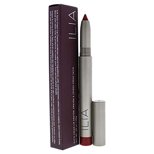 ILIA Beauty Satin Cream Lip Crayon Transmission for Women, 0.05 Ounce