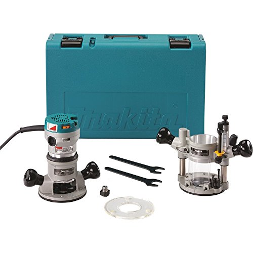 - Plunge & Fix Base Router Kit,  2-1/4 HP