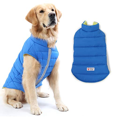 DORA BRIDAL Reversible Dog Winter Coat, Dog Apparel for Cold Weather,Pet Windproof Cloth Dogs Warm Classic Soft Vest…