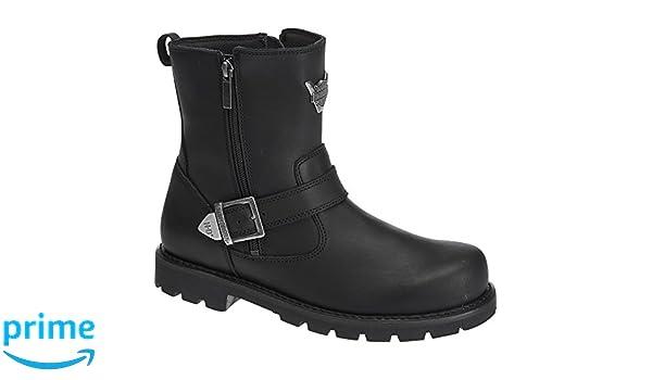 Harley Davidson - Botas de Cuero para Hombre Negro Negro, Color Negro, Talla 47: Amazon.es: Zapatos y complementos