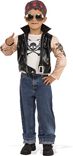 Rubies Costume 630965-M Child's Little Biker Boy Costume, Medium, Multicolor