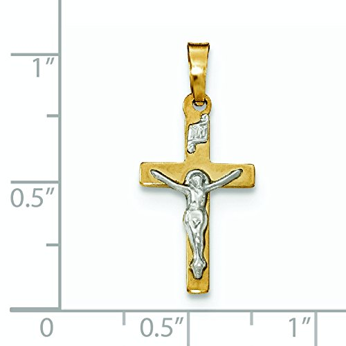 Or poli 14carats INRI crucifix Pendentif Croix