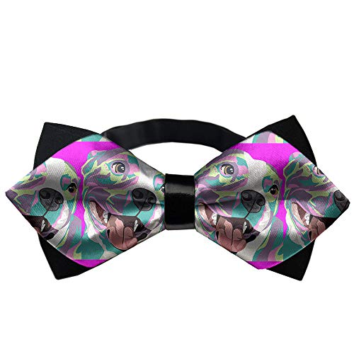 JZDACH Classic Pre-Tied Bow Tie Formal Tuxedo for Adults & Children (Pitbull Pop Art)