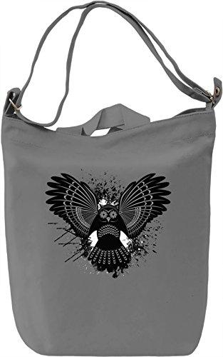 Splash Owl Borsa Giornaliera Canvas Canvas Day Bag| 100% Premium Cotton Canvas| DTG Printing|