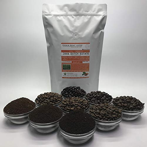 2 Pounds - Indonesian - Java Dutch Estate - Roasted To Order Arabica Coffee - Order Today/We Roast Today - Choose Roast Level (Light /Blonde /Medium /Med-Dark /Dark /Italian) (Whole Bean / Ground)
