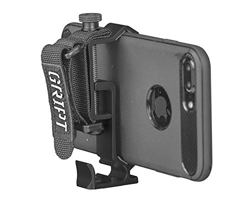 GRIPT Secure Smartphone Rig - Universal Tripod Adapter, Phone Hand Grip and Smartphone Accessory Mount - Black