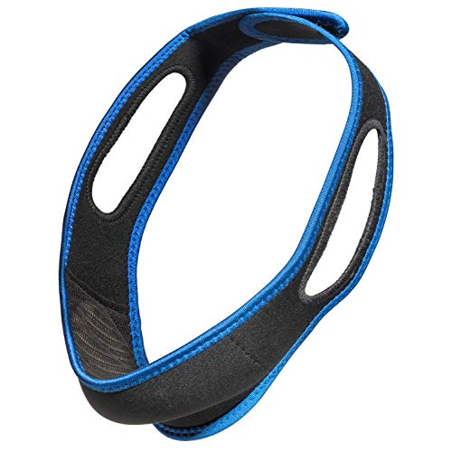 Anti Snoring Chin Strap by Snowy Egret-Natural Remedy to Stop snoring and Sleep Better, Comes with Adjustable Straps, Comfortable Premium Neoprene Fabric fit for Both Men and Women.