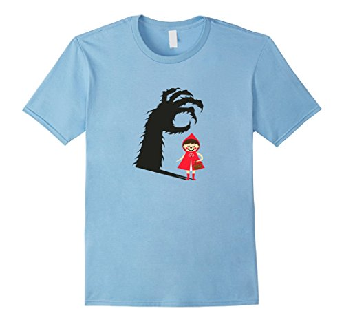 Male Little Red Riding Hood Costumes (Mens LITTLE RED RIDING HOOD VINTAGE HALLOWEEN T SHIRT 2XL Baby Blue)