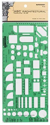 Rapidesign House Plan Fixtures Template (22R) by Rapiddesign