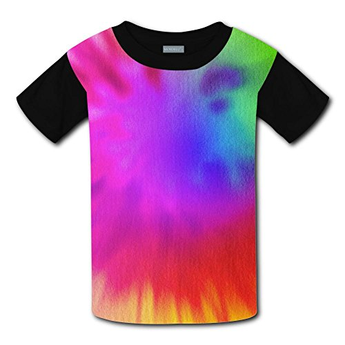 Kids Fashion Color Splash Tie Dye 3D Print T-Shirts Short Sleeve Tees