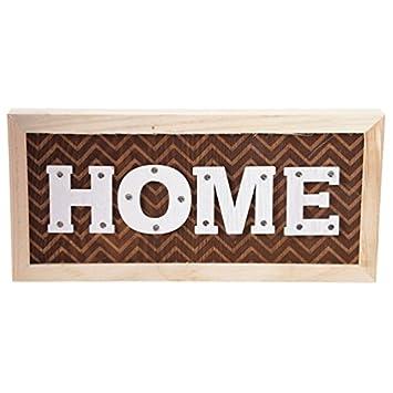 Home Led Wanddeko Aus Holz Mit 14 Leds 14 X 30 Cm Zickzack