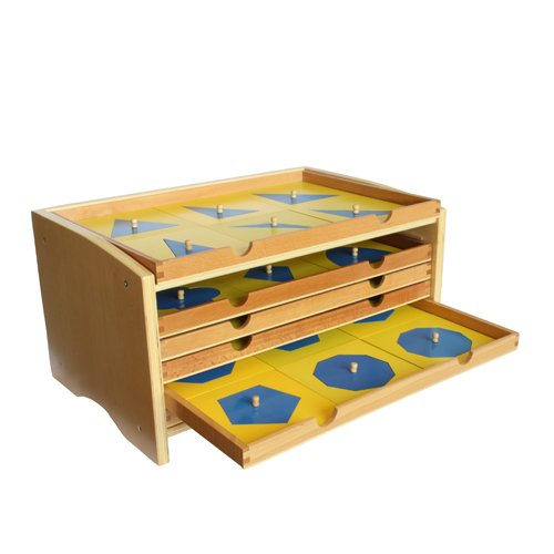 Montessori Geometric Cabinet with 35 insets