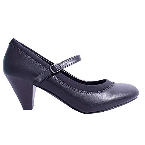 Merceditas Pour Synthtique Cuir Femmes Et Noir Vtements Chaussures Law RqyAfUU