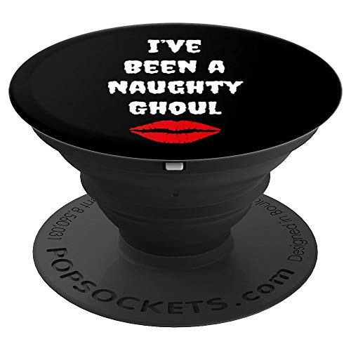 Funny Halloween Hocus Pocus Themed Naughty Ghoul Witch - PopSockets Grip and Stand for Phones and Tablets