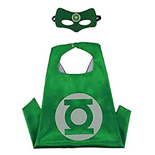 Bek Brands Children's Superhero Costume Cape Mask Sets (Green Lantern) -