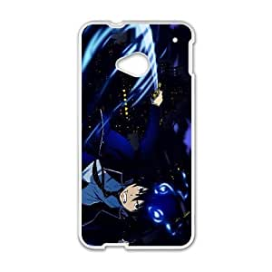 Durable Phone Case Lhqki HTC One M7 Cell Phone Case White Blue Exorcist Plastic Durable Cover