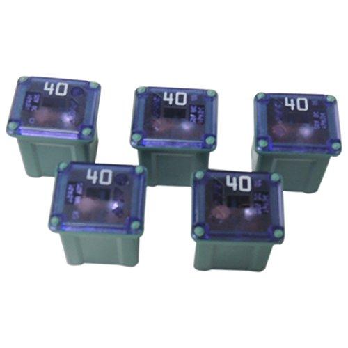 40 Amp Cartridge Fuse 5-Pack SBFC-LPJ Type Slow Blow Green PEC 3442 Low Profile